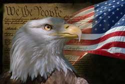 Image of eagle and US flag