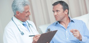image of male doctor & male patient
