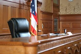 image of empty judge's chair