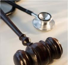 image of gavel and stethoscope
