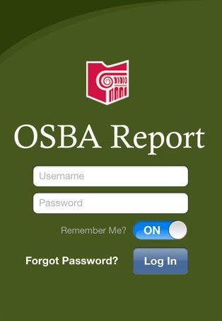 OSBA app Home Page