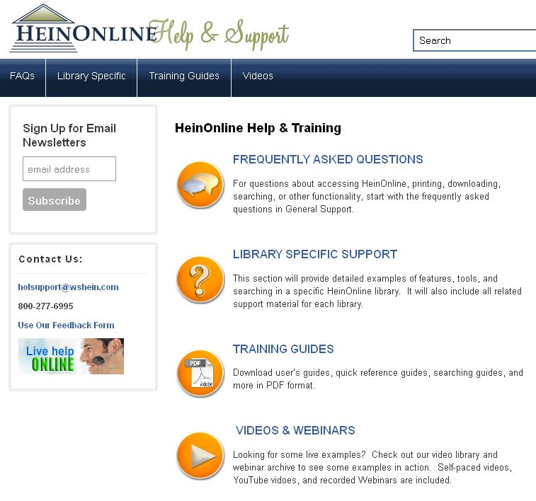 HeinOnline Help