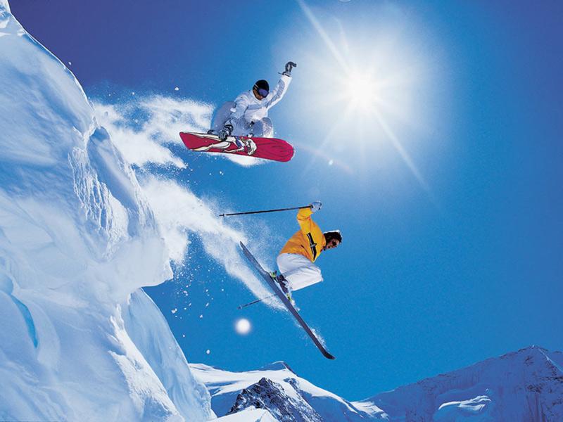 Snowboarders & Skiers