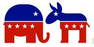 Republican Elephant & Democratic Donkey