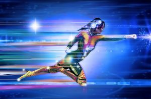 image of superhero woman