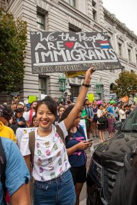 Photo of 9/15/17 DACA demonstration in San Francisco.